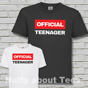 Official Teenager Birthday t shirt Funny Boys born in 2007 plus 13th 14th 15th