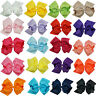 6 Inch Large Girls Double Layers Hairbow Baby Hair Bows Grosgrain Ribbon Clips