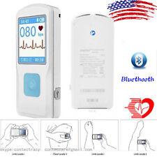 Handheld Portable Ecg Monitor Heart Rate Beat Lcd Bluetooth Electrocardiogramus