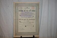 ANCIENNE ACTION COMPAGNIE DU CHEMIN DE FER DU CONGO  DE 1889.