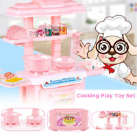 Kitchen Cooking Pretend Role Play Toy Cooker Set Gift For Boy Girl