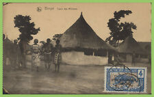 French Equatorial Africa - 4c overprint on postcard
