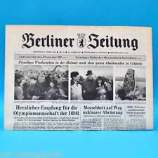 DDR Berliner Zeitung Febr.-April 1989 Geburtstag Hochzeit 25. 26. 27. 28. 29. 30