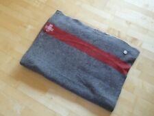 Perfect ORIGINAL SWISS ARMY Military Blanket - WOOL THROW WW2 WK2 1939 Top