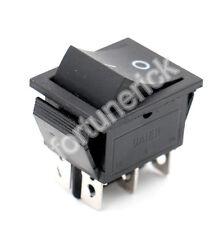 Wippschalter schwarz 16A 250 VAC 6 Pin DPDT (ON)-OFF (AN)-AUS Taster in Boot CE
