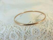 9ct 9carat Solid Rose Gold Slave Bangle Court Shape 3mm width, 9.8 grams