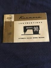 New listing Vintage Original Sears Kenmore Model 90 Instruction Book Free Shipping
