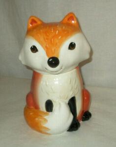 Earthenware FOX Cookie Jar