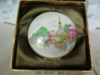 "Crummles & Co Enamel Trinket Box ""Panorama of Massachusetts"""