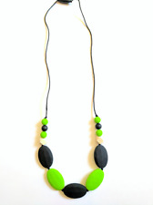 New Silicone  Wooden Beads Necklace for mom BPA Free for Teething Babies