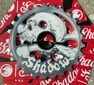 SHADOW CONSPIRACY CRANIUM SPROCKET 25t BMX BIKE SKULL HARO CULT SUBROSA SILVER