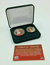 More details for muhammad ali collectible coins 24kt gold plated boxed merrick mint w/ coa