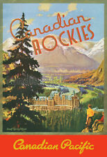 Canadian Rockies - Banff Springs -Canadian Pacific Rwy - 1938 Advertising Poster