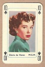 1950s Maple Leaf Dutch Film Star Playing Card - 10 of Clubs - Gloria de Haven