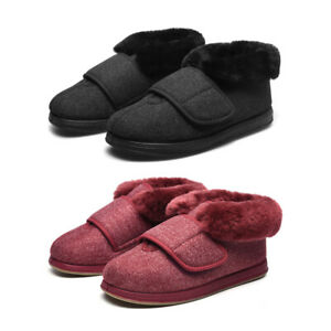 Womens Extra Wide Diabetic Shoes Edema Orthopaedic Slippers Adjustable Closures