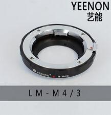 YEENON Leica M Lens to Micro 4/3 M4/3 Mount camera adapte STANDARD adapter