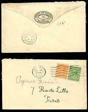 GB KG5 1929 2d + 1/2d to FRANCE..CAMEO ADVERT FLAP ENVELOPE NUTT CLASSICAL BOOKS