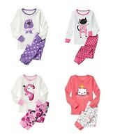 Gymboree Girls Cat Skeleton Unicorn Yeti Gymmies PJs Pajamas 12-18 18-24 2T NWT