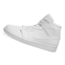 NIKE MENS Shoes Air Jordan 1 Mid - White - SX-554724-129