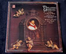 ORLANDO GIBBONS ANTHEMS & SONGS OF PRAISE THE CLERKS OF OXENFORD SEALED LP