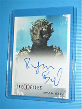 X-Files Seasons 10 & 11 Trading Card Ryan Beil as The Were-Lizard Autograph .