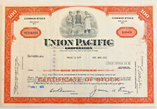 Union Pacific > 100 share railroad stock certificate