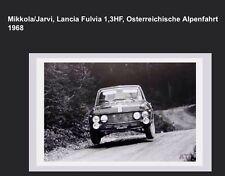 Lancia Fulvia 1,3HF Osterreichische Alpenfahrt 1968 Rare! Car Poster WOW!