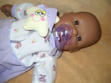 """15"""" AFRICAN AMERICAN """"BERENGUER"""" BABY DOLL Black Vinyl & Cloth Body, OPEN MOUTH"""