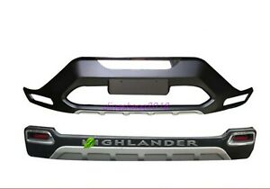 Front+Rear Bumper Board Guard Protector Fit for Toyota Highlander 2012-2014