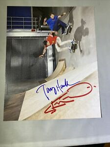 Rare Signed Tony Hawk and Steve-O Skateboard Picture Signed Autohraphed Skate