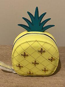 Kate Spade How Refreshing Pineapple Coin Purse Key Chain Fob NWT