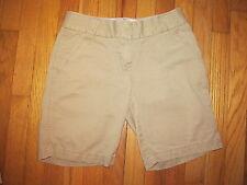 Women's J.Crew Chino Classic Twill City Fit Tan Cargo Shorts Size 0 VGC