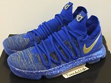 DS Nike KD X 10 Finals MVP sz12.5 Racer Blue/Gold wtkd eybl nerf BHM 897815 403