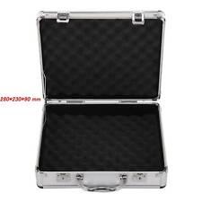 More details for large hard aluminium flight case foam lockable tool camera gun storage carry box