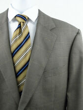 Brooks Brothers Mens 46L Houndstooth Windowpane Sport Coat Jacket Gold Taupe 46