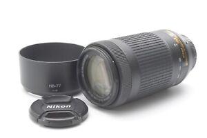 Nikon Nikkor AF-P DX 70-300mm F/4.5-6.3 VR ED G Lens - With Hood & F/R Lens Caps