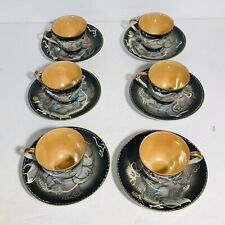 Nikoniko China MoriageDragonware Hand Painted 6 Cups and Saucers  MIJ
