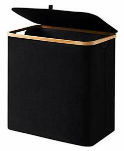90L Laundry Hamper with Lid Black Modern Dirty Clothes Hamper with Handle Dirty