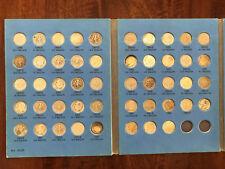 COMPLETE 48pc SILVER ROOSEVELT DIME COLLECTION - 1946-1964 P/D/S w/ album
