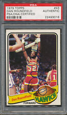 1979/80 Topps #43 Dan Roundfield PSA/DNA Certified Authentic Auto *3016