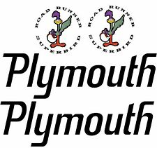 PLYMOUTH ROAD RUNNER WING DECAL SET - SUPERBIRD - WING DECALS 4 Pcs.