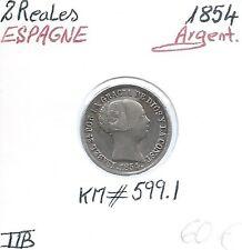 ESPAGNE - 2 REALES - 1854 (Isabel 2) - Pièce de monnaie en Argent // TTB