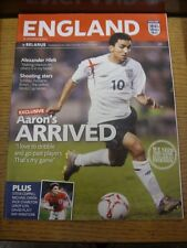 25/05/2006 England B v Belarus B [At Wembley] (creased). Item appears to be in g