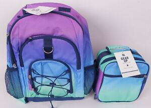 Pottery Barn PB Teen Gear Up backpack & lunch box, Ombre multi cool