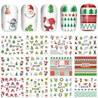 Nail Art Stickers Transfers Christmas Xmas Trees Santa Collection (A1165-1176)