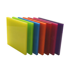 Acrylic Perspex® Colour, Clear, Mirror, Tinted & Frosted Sheet Cut to Size Panel