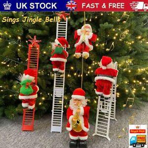 Christmas Electric Santa Claus Climbing Ladder Doll Music Xmas Music Party Decor