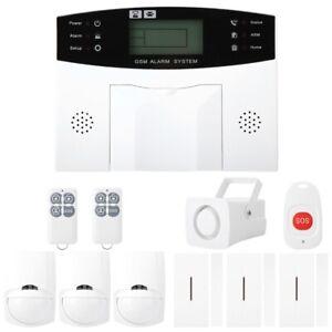 Wireless LCD GSM Intelligent Voice House Office Security Burglar Intruder Alarm