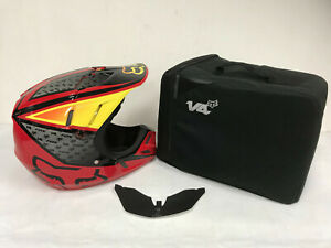 STORE DISPLAY FOX RACING RED YELLOW CHAD REED V4 REPLICA SIGNATURE HELMET Small