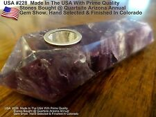 USA Made Purple Dream Amethyst  Natural Rock Stone Pipe #228  NOT Glass